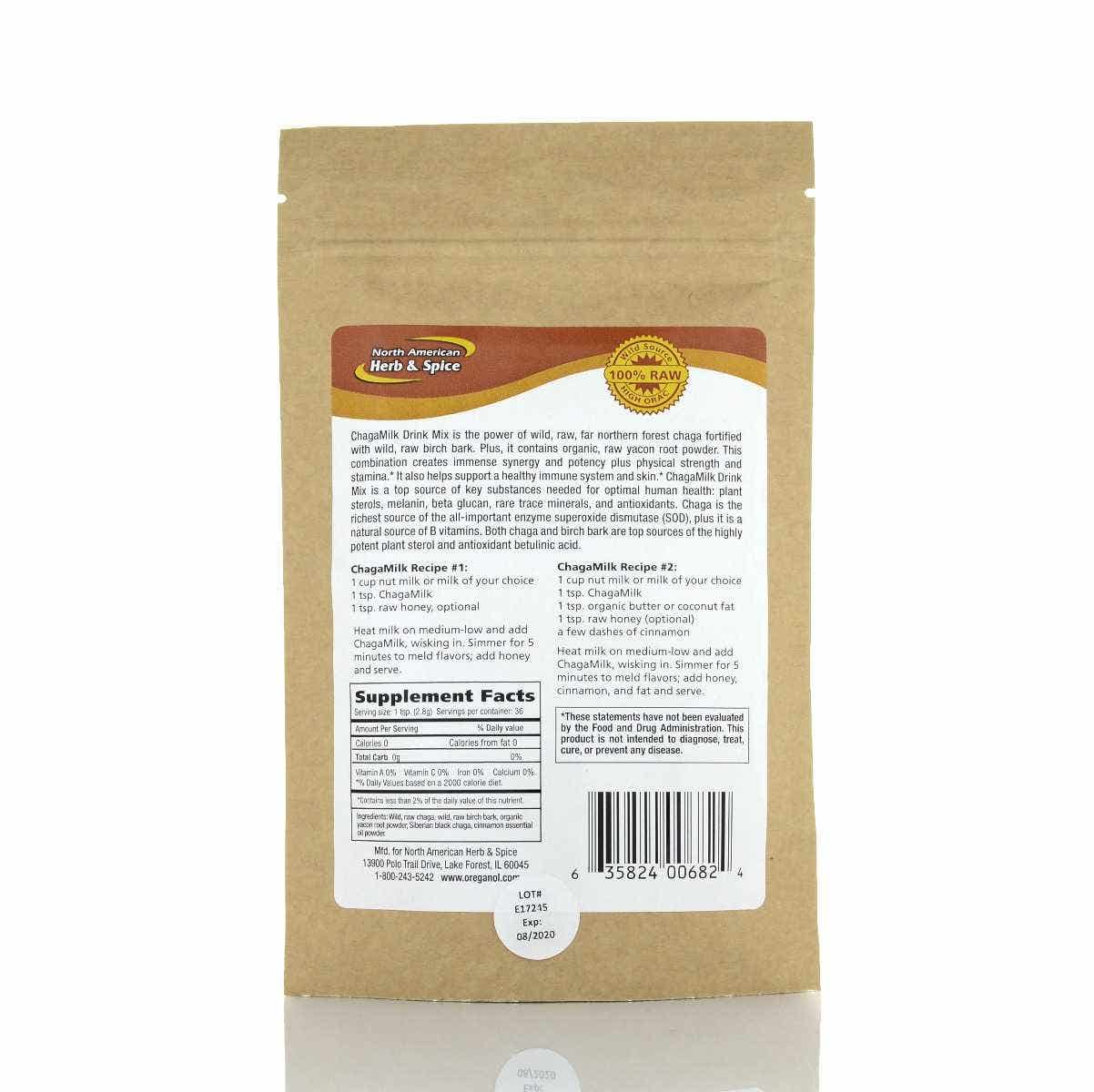 North American Herb & Spice ChagaMilk Mix, 100g